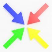 Colored arrows — Stock Photo
