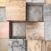 Textured stone cubes — Stock Photo