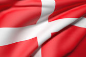 Vlajka dánsko — Stock fotografie