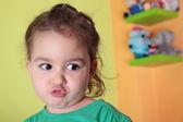 Girl pouting — Stock Photo