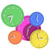 3d clocks — Stockfoto