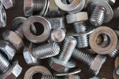 Nuts, screws and washers — Stock Photo