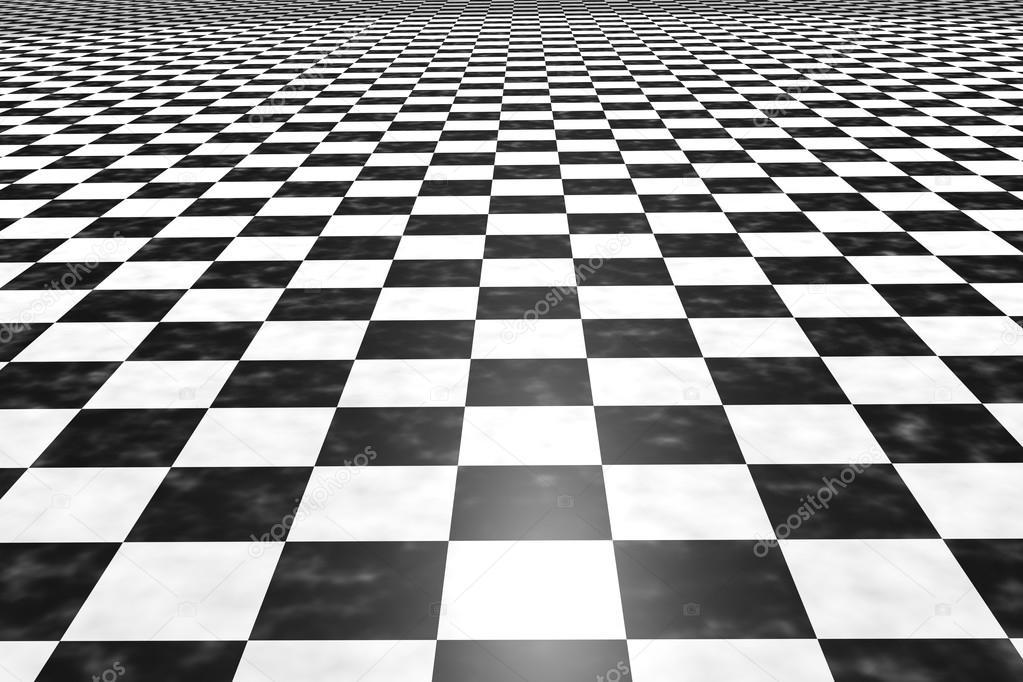 Rendu 3d D Un Plancher De Tuiles Carr 233 Noir Et Blanc