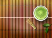 Matcha Tee — Stockvektor