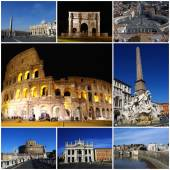 Monuments of Rome, Italy - collage — Stock Photo
