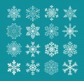 Set of snowflakes, vector version — Stock Vector