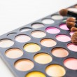 Makeup brushes and make-up eye shadows — Stockfoto #65343647