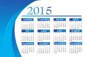 Calendario del año 2015 vector — Vector de stock
