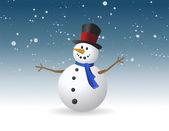 Sneeuwpop, vectorillustratie — Stockvector