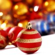 Christmas ball against light background — Stock Photo #59422023
