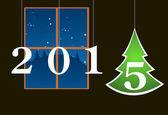 Árbol de Navidad fondo — Vector de stock