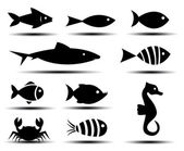 Fish Icons  — Stock Vector