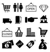 Shopping icons vector — Stock Vector
