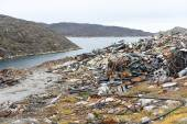 Waste disposal site in Greenland — Stock Photo