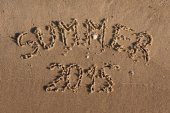 The inscription on the sand summer  — Stock Photo