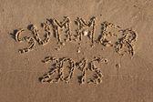The inscription on the sand summer  — Stockfoto