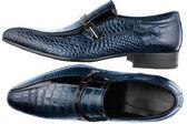 Classic men's blue shoes — Stock Photo