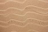 Mexico inscription on the wavy sand — Stock Photo