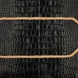 Arrow made of rope  lies on a background of crocodile  leather — Stock Photo #71821329