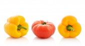 Sweet pepper and tomato — Stock Photo