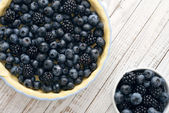 Pie with blueberries — Stock Photo