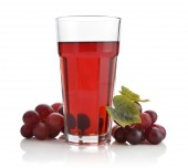 Glass of grape juice — Stock Photo