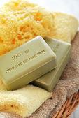 Greek olive soap — Stock Photo