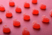 Candy in shape of hearts — Stock Photo