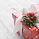 Red gift box — Stock Photo #60685153