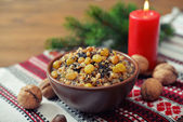 Kutia in ceramic bowl — Stock Photo