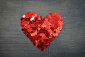Confettis en forme de coeur — Photo