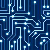 Fondo de tablero de circuito vector azul — Vector de stock