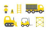 Vector Construction Machines Set — Stock Vector