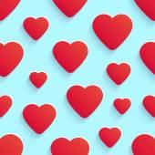 Reticolo senza giunte per San Valentino con cuori — Vettoriale Stock