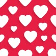 Vector seamless pattern for Valentines Day with hearts — Stock Vector #66989479