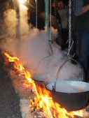 Cooking on the fire — Foto de Stock