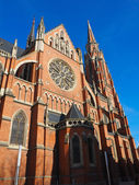 Red brick church — Stock Photo