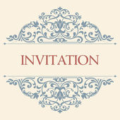 Vintage greeting card, invitation with floral ornaments, beautif — Stock Vector