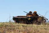 Ukrainian armored vehicles destroyed in the July fighting  — Stockfoto
