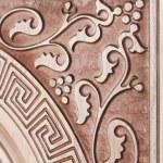 Fragment beautiful carved brown wooden door — Stock Photo #61883567