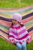 Cute little girl on picnic — Stockfoto