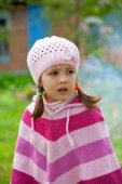 Cute little girl on picnic — Stock Photo