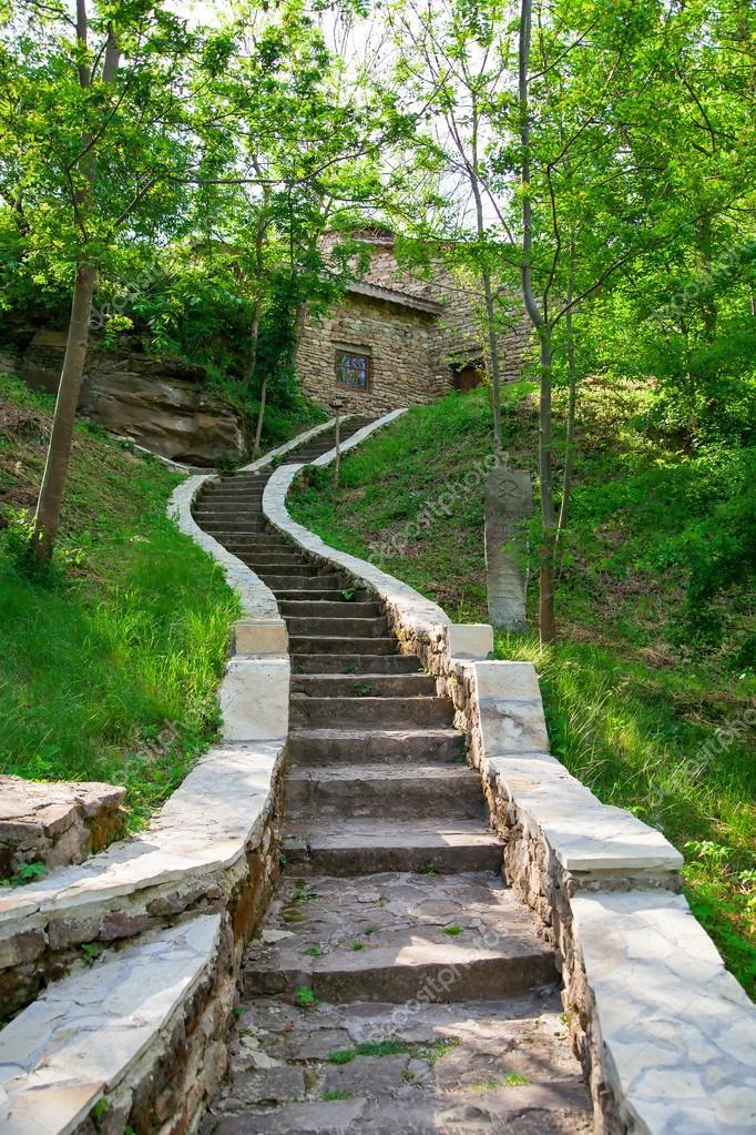 Escaliers en pierre am nagement paysager photographie for Escalier paysager