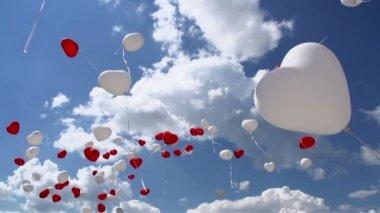 Шарики в небо — Стоковое видео