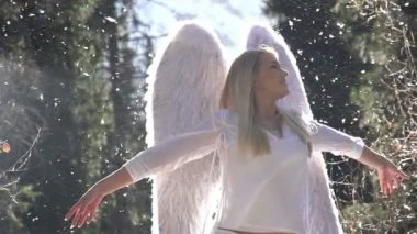 白い天使 — ストックビデオ