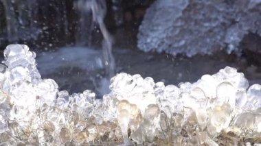Sun and Winter Creek. — Stock Video