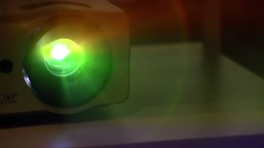 Shimmering Projector Beam — Stock Video