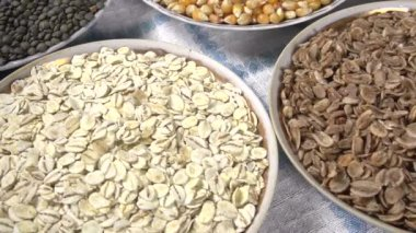 Various kinds of grasses and legumes — Stock Video