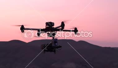 Quadrocopter in  Exploration Area — Stock Video
