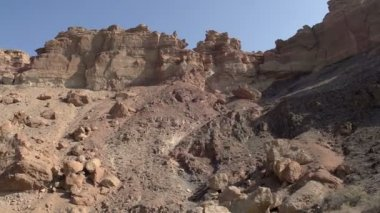 Panorama del canyon con formazioni — Video Stock